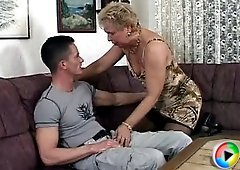 The freaky old slut loves his dick and she takes a long hard ride on top