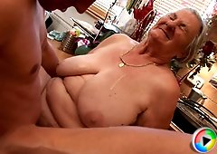 These younger studs love having a plumper granny sucking them