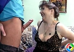 Sexy grandma with the dripping wet pussy wants him fucking her like a whore