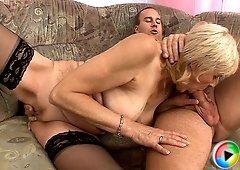 A savage love-making with mature MILF is taking place