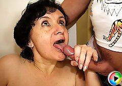She's his mother in law and she is totally hot for his rock hard young cock inside her pussy