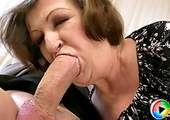 Chubby granny Eve got her fat pussy fucked hard